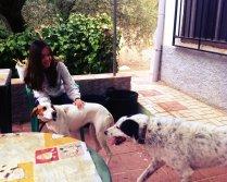 Maggie y Kiko en su nuevo hogar