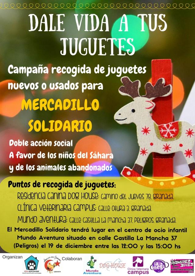 campaña recogida de juguetes para mercadillo solidario